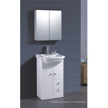 Meuble de salle de bain peint en PVC blanc (B-1317)