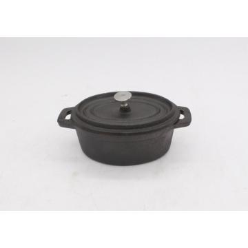 mini pote oval de ferro fundido