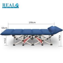 Cama de dobramento militar dobrável real do tamanho do berço de acampamento por atacado das camas