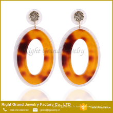 Designer boucles d'oreilles à la mode Tanishq boucles d'oreilles prix Drop Donut UV acrylique boucles d'oreilles pour femme bijoux