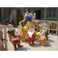 Fiberglass Life Size Snow White And Dwarf Statue