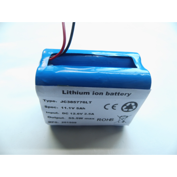 11.1V 5AH deep cycle rechargeable battery