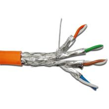 10g 650MHz SFTP blindado Cat7 cabo LAN com jaqueta LSZH