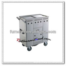 Carrito de rodillos de la carretilla de la cocina del acero inoxidable del gas S101 Rollo Cart