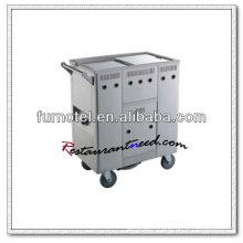Chariot à pain de nouilles de riz de chariot à cuisine d'acier inoxydable de S101