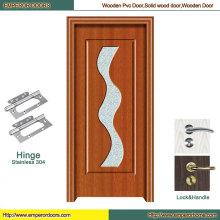 Porte affleurante de porte de conception de porte de PVC