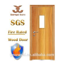 BS476 solid hospital wooden fireproof door