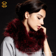 Lovely Real Fox And Raccoon Fur Neck Scarf Special Design Fox Fur Collar Coat Accesseries