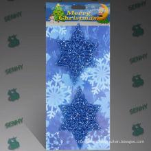 Decoraciones azules plásticas del navidad de la Navidad