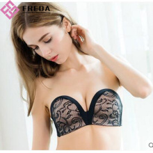 Full Cup Black Lace Body Stropless Bra