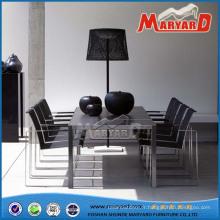 Ensemble de salle à manger en acier inoxydable avec chaises en acier