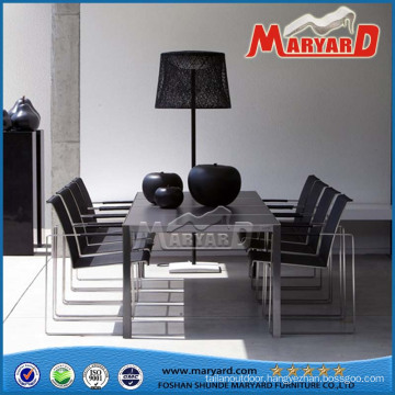 Steel Chairs Stainless Steel Dining Set