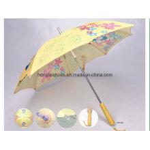 Прямая желтая блузка: детский зонтик