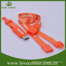 Beliebte tragbare OEM usb Lanyard benutzerdefinierte Nylon Lanyards mit USB