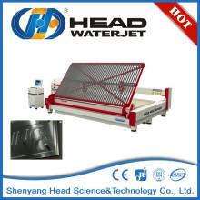 Hidrojet máquina de corte de abrasivos de corte por chorro de agua de vidrio proceso de la máquina