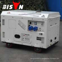 BISON China Taizhou 8KVAt 8kw Медный провод AC Однофазный 8000 Вт бесшумный дизельный генератор