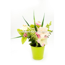 Decoración de mesa de mesa de boda de flores artificiales