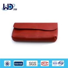 Женщины красный мягкий PU длинный кошелек