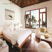 Fenêtre d'inclinaison en alliage d'aluminium couleur bois pour un luxe agréable (FT-W70)