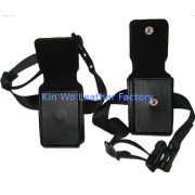 Leather Gps Walkie Talkie Holster Pouch For Portable Electronics