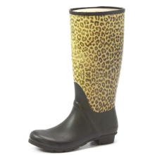 Handsome Yellow Leopard Printing Rubber Rain Boots