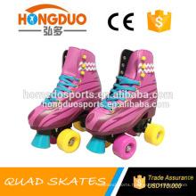 New hot sale fashion kids women quad roller skates pinky soy luna