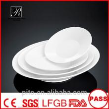 P&T ceramics factory subtle line plates, porcelain deep plates, salad plates