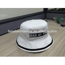Boa qualidade 100% algodão bucket hat, design próprio seu chapéu de balde de logotipo