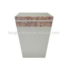 Cor-de-rosa da mãe de pérolas shell shell dustbin tipo