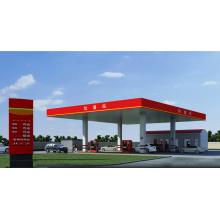 Verzinkte hochwertige Stahldach-Tankstelle Baldachin