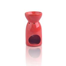 Red Glazed Ceramic Tealight Holder or Aromatic Oil Burner Warmer