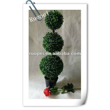Artificial topiary grass ball plant