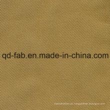 100% tecido de sarja de algodão orgânico (QDFAB-8643)