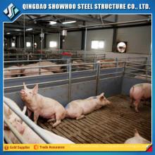 Conception de construction Maison en acier préfabriquée Ferme de porc