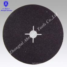 Disco de fibra abrasiva revestido com carboneto de silício de alta qualidade