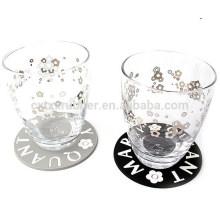 Coaster de impressão de sublimação, coaster de copo de vidro coaster