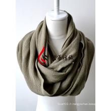 Châle en acrylique tricoté (12-BR201812-4)