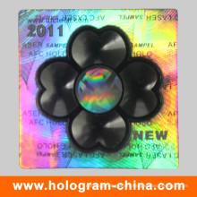 Étiquette de sécurité holographique 3D de laser 2D de haute qualité de logo personnalisé
