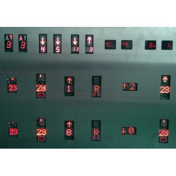 Indicador de elevador, elevación indicador, exhibición de la serie, paralelo pantalla
