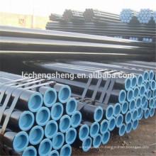 Tuyau en acier sans soudure noir dans la meilleure qualité et le meilleur prix du tuyau de pétrole et de gaz