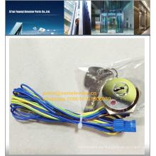 Llave de ascensor para puerta elevadora con cable y luces de sensor