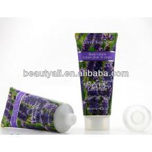 Etiquetado Tubo cosmético para loción corporal, tubo de plástico para embalaje cosmético