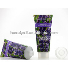 Étiquetage de tube cosmétique pour lotion pour le corps, tube en plastique pour emballage cosmétique