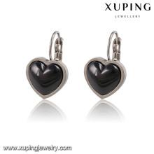 91782 moda elegante cerâmica em forma de coração jóias brinco clipe
