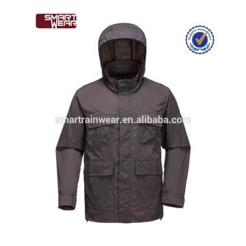 Großhandel hochwertige schwarze wasserdichte College-Jacken