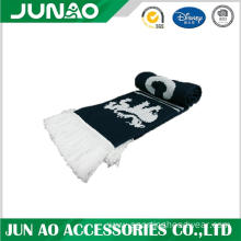 Wholesale football fans long scarf with pattern