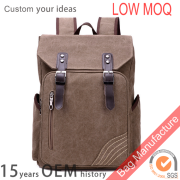 Retro style leisure hiking laptop bags with large capacity for students