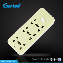 Universal fashion design muiti-function electric socket outlet with apple switch