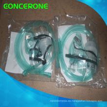 Máscara desechable de oxígeno con embalaje PE