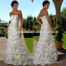 Straight Neckline Wedding Dress